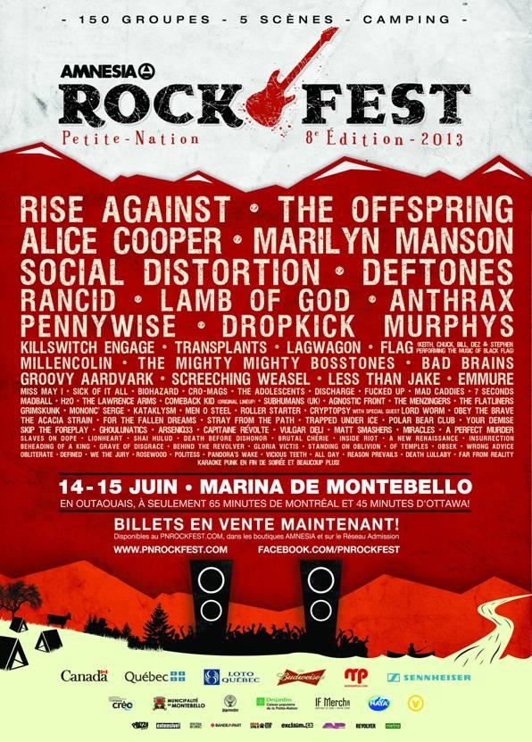 Amnesia Rockfest 2013 @ Montebello