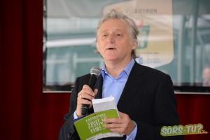 Gilbert Rozon présentait la programmation du festival Juste pour rire 2013. Photo par Valérie Patry.