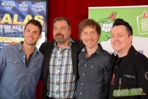 Quatre des six animateurs des galas Juste pour rire