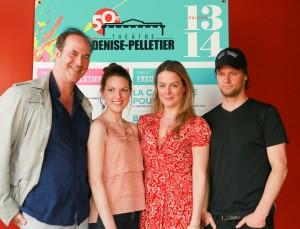 Marie Tudor de Victor Hugo.De gauche à droite : Claude Poissant, metteur en scène, Rachel Graton, Julie Le Breton, David Boutin.