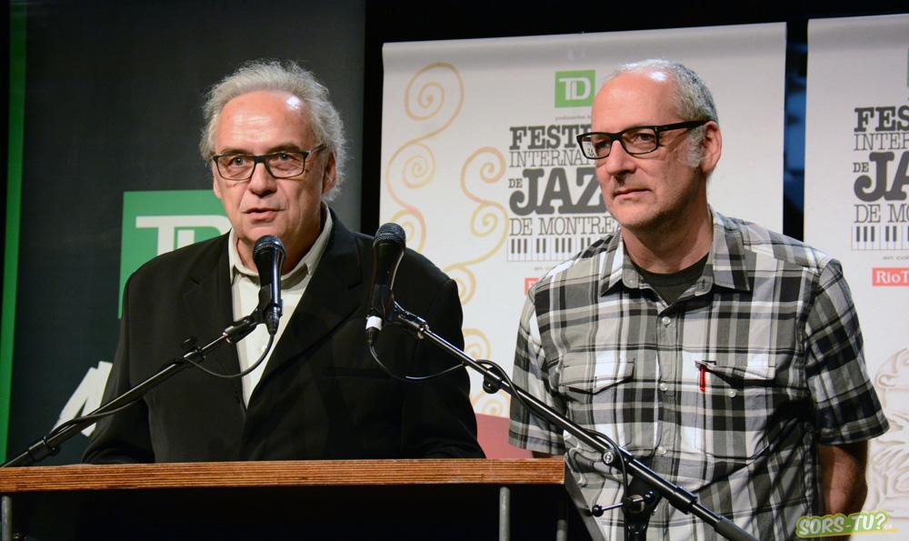 Le directeur artistique André Ménard, et directeur de la programmation Laurent Saulnier. Photo par Marc-André Mongrain.