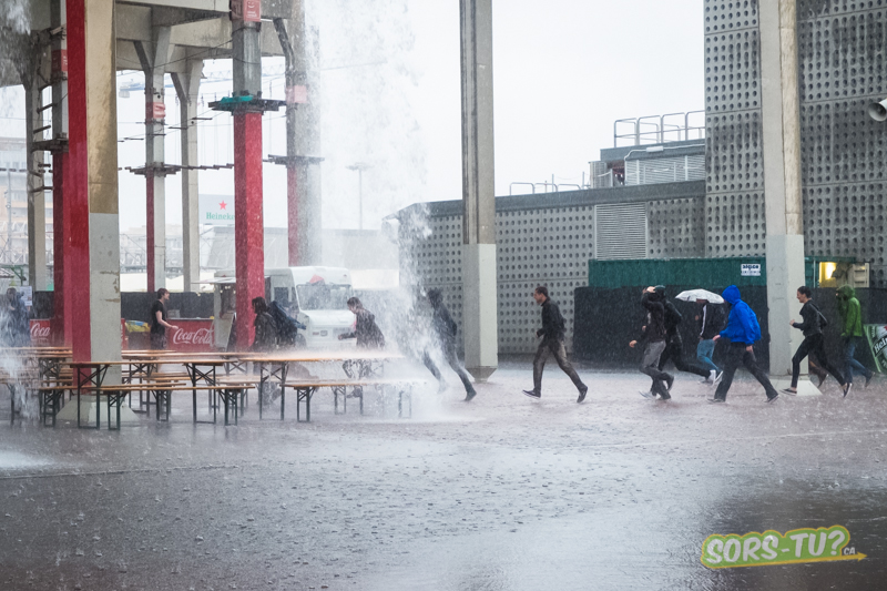 Le déluge, photo par Catherine Rosa