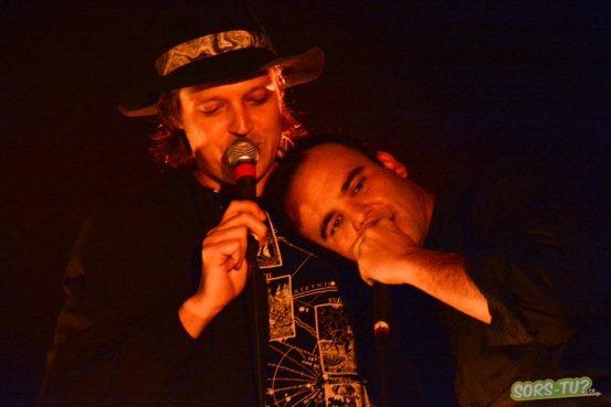 Win Butler et Samuel T. Herring réunis sur scène. Photo par Marc-André Mongrain.