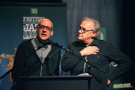Laurent Saulnier et André Ménard présentait la programmation à l'Astral. Photo par M-A Mongrain
