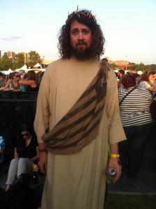 Aperçu au show de <a href='/artiste/kanye-west/' >KanyeWest</a> : le Christ notre Seigneur.