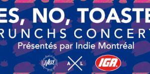 Yes No Toaster | Une formule brunchs-concerts bimensuelle au Divan Orange dès décembre