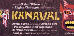 Kanaval Kanpé 2016   Concert bénéfice d'Arcade Fire et David Byrne à la SAT Montréal en février 2016