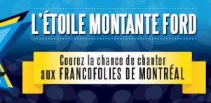 FrancoFolies de Montréal 2016 | Le concours L'Étoile montante Ford est de retour en version améliorée