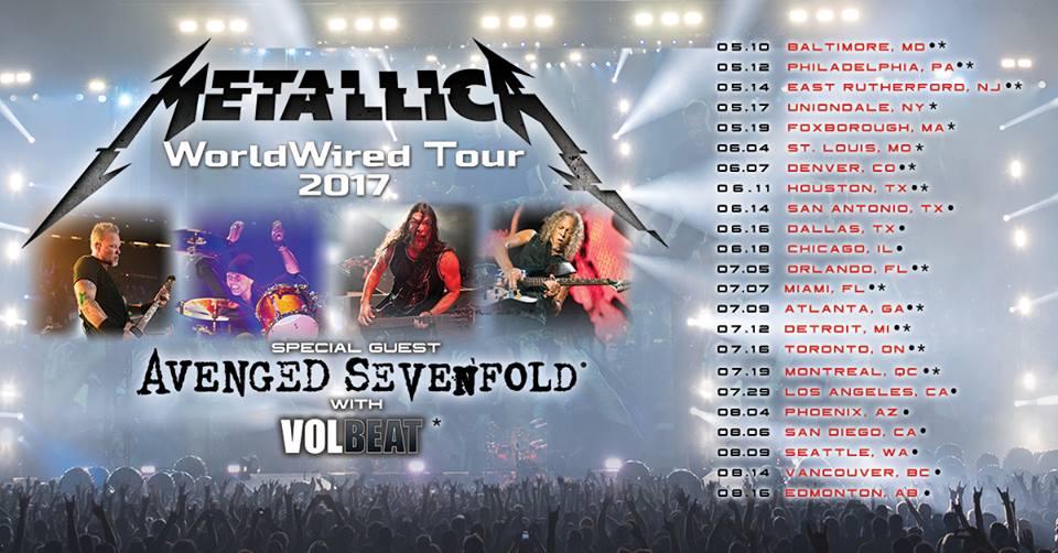 Metallica World Tour Ticket Prices