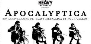 Apocalyptica jouera Metallica à Montréal en septembre 2017
