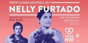 Nelly Furtado sera la tête d'affiche de Fierté Canada Montréal 2017