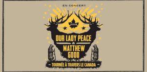 Our Lady Peace et Matthew Good à Montréal et en tournée canadienne conjointe en mars 2018