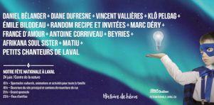 Fête Nationale à Laval 2018 | Daniel Bélanger, Diane Dufresne, Klô Pelgag et plusieurs autres au programme
