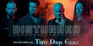 Disturbed (avec Three Days Grace) à Laval en mars 2019