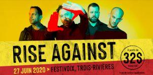 FestiVoix de Trois-Rivières 2020 | Rise Against confirmé comme première tête d'affiche!