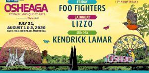 Osheaga 2020 | Foo Fighters, Lizzo, Kendrick Lamar, Bon Iver et plusieurs autres à la programmation!