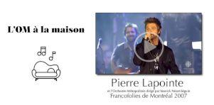 Revivez le concert «La Forêt des mal-aimés» de Pierre Lapointe et l'Orchestre Métropolitain dirigé par Yannick Nézet-Séguin