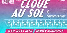 Cloué au sol : Le FestiVoix propose un spectacle virtuel de Damien Robitaille et Bleu Jeans Bleu dans un hangar d'avions!
