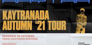 Kaytranada au Piknic Electronik de Montréal en octobre 2021!