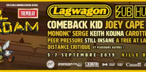 Envol et Macadam 2019 | Lagwagon, Subhumans, Comeback Kid, Bigwig, Mononc' Serge, Keith Kouna et plus encore