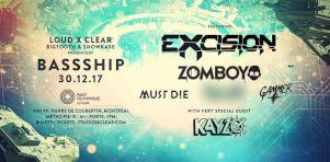 Bass Ship 2017 | Gros événement dubstep avec Excision, Zomboy, Must Die ! et plus en décembre 2017