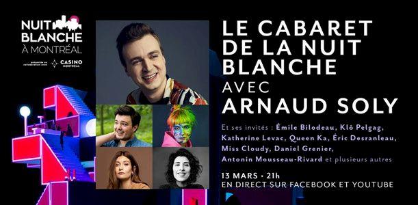 Le Cabaret de la Nuit blanche avec Arnaud Soly