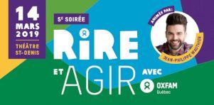 Soirée Rire et agir 2019 | Un spectacle d'humour varié pour Oxfam-Québec