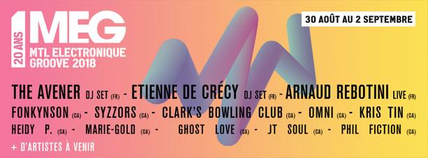 MEG (Montréal Electronique Groove) 2018