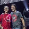 Bill Gates et Justin Trudeau, dignitaires au Centre Bell pour le concert Global Citizen©Jeff Lambert