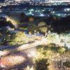 Vue aérienne de la foule amassée à la Place de l'Assemblée nationale en 1998.